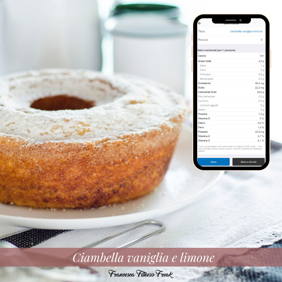 Ciambella vaniglia e limone